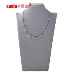 方法宝石類の革クリスマスのギフトのための淡水の真珠のネックレス