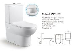 Fabricant de Chaozhou porcelaine sanitaire femmes étanche ronde WC WC en deux pièces en céramique