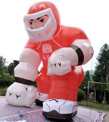 Stützkundenspezifischer aufblasbarer Fußball-Spieler, der aufblasbaren Rugby-Mann bekanntmacht