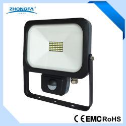 LEDのPIRセンサーが付いている軽いセリウムEMC RoHS公認20W IP54 LEDランプ