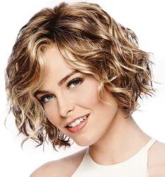 Sintético recto corto lleno de moda Kanekalon pelucas de fibra resistente al calor