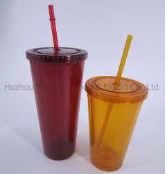 OEM / ODM mur double personnalisée sans BPA comme/PS Tumbler tasse en plastique