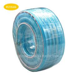 농업 관개를 위한 유연한 PVC 투명한 땋는 강화된 호스 폴리에스테르섬유 땋아진 강화된 PVC 호스