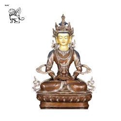 Lieferanten-fromme tibetanische Buddhismus-Messingstatue, die Buddha-Verkäufe Bsg-95 sitzt