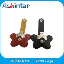 ذاكرة USB جلدية بسعة حقيقية تبلغ 2 جيجابايت وسعة 4 جيجابايت وسعة أقل تبلغ 16 جيجابايت طباعة شعار السعر محرك أقراص USB محمول عالي الجودة