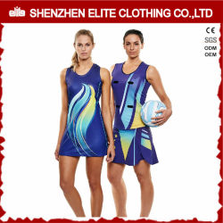Service OEM étanche femelle impression en sublimation Netball robe (ELTNBJ-153)