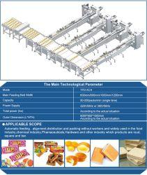 تصنع الصين خط التعبئة الآلي للخبز، الكعكة، كعكة الكعكة، كعكة الكأس، بسكويت وفاء، شوكولاته بار، كعكة سويسرية، حلوى، نودلز فوري، فطيرة فواكه