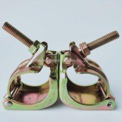 Le collier de fixation d'Échafaudage Shlomi JIS appuyé sur le raccord orientable coupleur