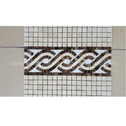 Fronteira com mosaicos de mármore de pedra natural para decoração