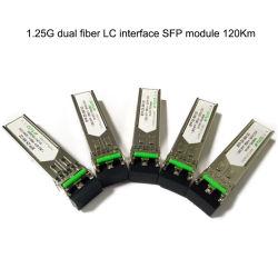 1.25 جم 120 كم في وضع واحد الألياف المزدوجة 1550 نانومتر Gigabit GBIC/SFP