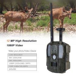 Professional e elevada qualidade 4G Infrared Caça selvagem da câmara para exterior da Câmara Trilha Impermeável Scouting Câmera com fonte de alimentação e caixa de Ferro