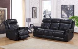 Haut de cuir de vache canapé inclinable avec fonction de puissance pour les meubles de salle de vie