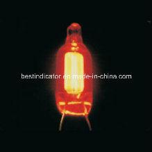 Lampada al neon con il resistore ed il collegare