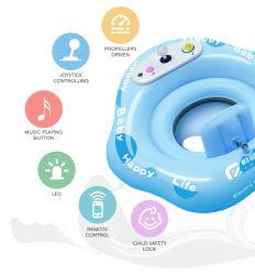 ذكيّة سباحة لعبة لأنّ طفلة كهربائيّة سباحة حل قابل للنفخ عوّامة طفلة سباحة لعبة مع لون موسيقى و [رك]
