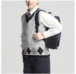Сарафан Custom Argyle мальчиков школьного Argyle свитер Майка