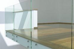 Fabriqué en Chine en acier inoxydable balustrade en verre balustrade pour escalier de la main courante avec la CE