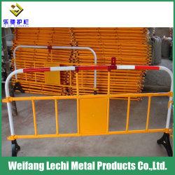 L'acier à haute visibilité Treillis Soudés clôture temporaire pour la sécurité de la construction Site/// de la route de jardin piscine