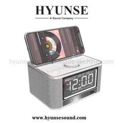 Chargeur portable multimédia Affichage en temps LCD Réveil haut-parleur Bluetooth sans fil USB