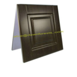 Nouveau moderne en bois Meubles de revêtement en PVC Porte armoire de cuisine