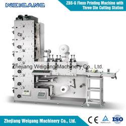 Autocollant de l'impression flexographique narrow web de la machine avec die et de bâches de coupe