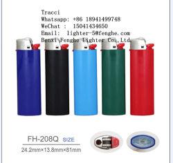 Gás de pedra descartáveis de plástico Acendedor de Cigarro Fh-208Q Similair Bic