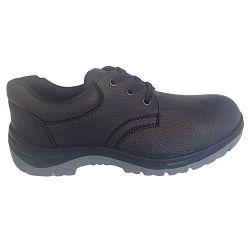 Oberleder aufgespaltete geprägtes Ledersohle PU-Arbeits-Sicherheits-Fußbekleidung
