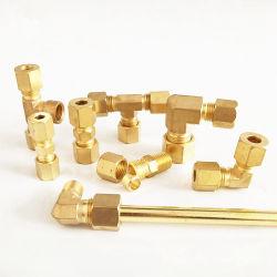 Acoplamento de latão de cobre de compressão da mangueira do tubo de água de encanamento sanitário/conexão de cobre do tubo de gases de escape