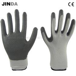 Нитриловые покрытием труда защитные промышленные рабочие перчатки (NS001)