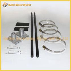 Rue lumière métal Pole Drapeau de la publicité le support (BS-HS-046)