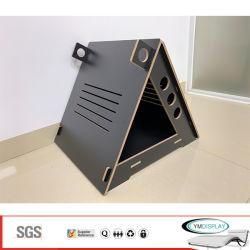 Triângulo de luxo madeira Transportadora Pet Cat House Gaiola Pet