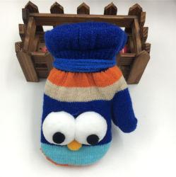 Zmsafety Amazon Vente chaude Automne Hiver Kids Fashion Mitten enfants Double tricotés des gants épais