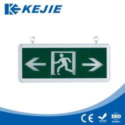 Kejie Super Cheap Recto/Recto-verso des enseignes de sortie des feux de sortie à LED IP20 avec façade de verre