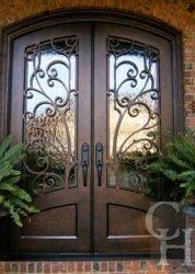 芸術はアークガラス細工の鉄の鋼鉄保安用ドアを飾る