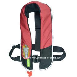 Marcação CE 150 Preto e Vermelho Vida insufláveis Jacket para salvar vidas
