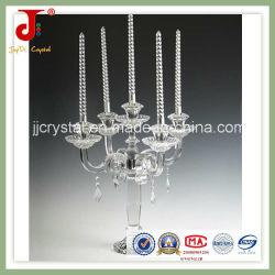 Kristallglas-Kerze-Halter mit hängendem Kristall