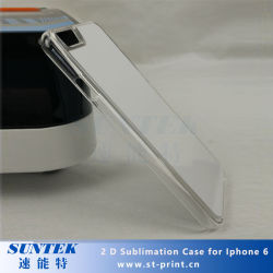 Transperent 2D de la sublimation de cas de téléphone cellulaire pour iPhone 6