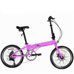 Deporte en el mercado mayorista de aleación de fibra de carbono Rosa doblado/marco de una bicicleta plegable
