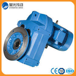 Riduttore elicoidale dell'attrezzo dell'asta cilindrica parallela montato flangia con il motore
