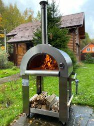Linka el hogar de leña de pellets en el exterior los hornos de pizza de Gas