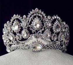 De aangepaste Bruids Kroon van de Tiara's van het Bergkristal van het Huwelijk van de Kroon van het Kristal (Ta-001)