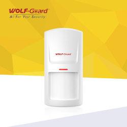 Alarma antirrobo de Wireless Sensor de movimiento detector Detector PIR de Wolf-Guard