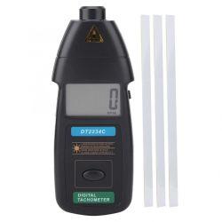 デジタルレーザーの回転速度計Rpmのメートル無接触2.5rpm-99999rpm LCDの表示の速度メートルDt2234cのテスターの速度(DT2234C)