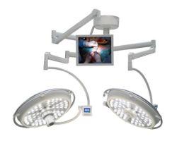 カメラシステムが付いている天井によって取付けられる二重ドームLEDの外科操作ランプ