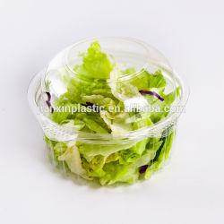 뚜껑을%s 가진 명확한 처분할 수 있는 신선한 커트 과일 야채 샐러드 애완 동물 플라스틱 용기