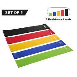 Fascia elastica di resistenza di esercitazione della strumentazione di forma fisica con differenti colori