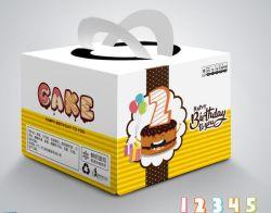 習慣Ccnb/の白いボール紙の波形を付けられるか、または板紙表紙の色刷のケーキ/食糧出荷の包装のケーキのギフト用の箱