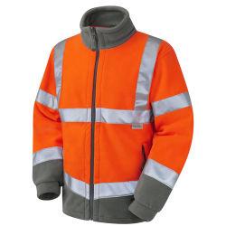 Deux tons de sécurité haute visibilité Softshell veste polaire polaire réfléchissante