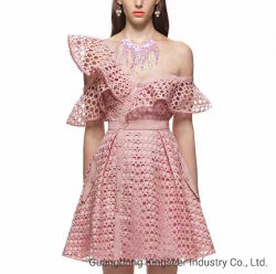 Nuovo vestito da cocktail del poliestere di sera della festa nuziale delle signore di modo di disegno per le donne