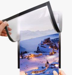 A4 A5 PVC Moldura Fotográfica do Magneto Plexiglass Frigorífico Acrílico Moldura Fotográfica do magneto