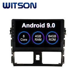 Witson Android 9.0 Car Audio Video para 2014-2016 Toyota Vios 4GB de RAM 64 GB de memoria Flash Pantalla grande en el coche reproductor de DVD